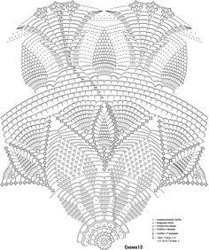 Crochet Pattern Of The Star Crochet Tablecloth Pattern, Free Crochet Doily Patterns, Crochet Doily Diagram, Crochet Circles, Crochet Mandala, Crochet Round, Crochet Chart, Crochet Home, Thread Crochet