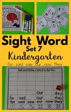 Here is a great resource to help kindergartners practice their sight words with many fun activities.  I love that the kindergartners can work independently on activities and this sight word resource is perfect. I used the 100 High Frequency word list. There are dice games, partner games, word searches, and independent work. If you want to practice sight words with your kindergarten kiddos this resource is perfect! Less