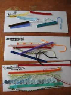 Measure It!  A preschool activity bag that focuses on size discrimination and pre-measuring skills.  Personally, I'd make the following changes: Shortest - the caterpillar, medium - the dog, longest - the shark.