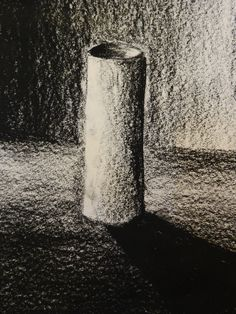 6th grade pupils drawing. Charcoal exercises.