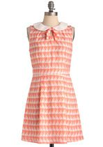 modcloth sailboat dress - peach