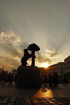 Anochece en Sol. Madrid