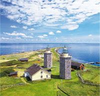 The double lighthouses at Nidingen, Sweden