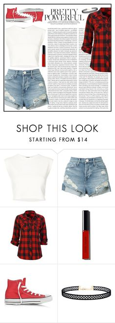 """""""Street Outfit"""" by eye-contacts ❤ liked on Polyvore featuring Puma, Oris, 3x1, Full Tilt, Bobbi Brown Cosmetics, Converse, LULUS, StreetStyle, outfit and look"""