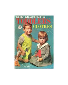 Enid Gilchrist Toddlers' Clothes for 18 by patternscentral Pdf Patterns, Craft Patterns, Vintage Patterns, Book Costumes, Pattern Books, Toddler Outfits, 18 Months, Unique Vintage, 1990s