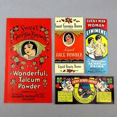 Set of 1930s VALMOR Beauty Product Labels - on Ruby Lane