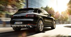 The sleek Porsche Macan is featured in our Apr/May issue luxury SUV round-up.