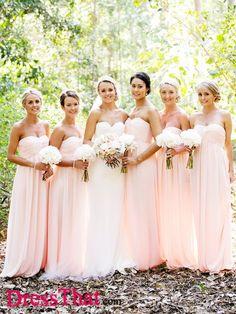 Bridesmaid Dresses Chiffon, Bridesmaid Dresses A-Line, Long Bridesmaid Dresses, Blush Bridesmaid Dresses, Pink Bridesmaid Dresses Bridesmaid Dresses 2018