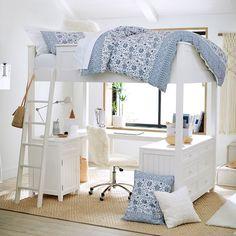 Girls Bunk Beds, Loft Bunk Beds, Modern Bunk Beds, Bunk Beds With Stairs, Girl Loft Beds, Full Bunk Beds, Bunk Bed Designs, Girl Bedroom Designs, Room Ideas Bedroom
