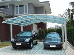 Polycarbonate Carport for two