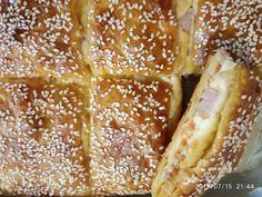 Ζαμπονοτυρόπιτα με φύλλο σφολιάτας French Toast, Bread, Breakfast, Recipes, Food, Morning Coffee, Brot, Recipies, Essen