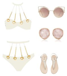 """""""Untitled #42"""" by jaliah-1 ❤ liked on Polyvore featuring Agent Provocateur, MANGO, Monica Vinader, Packandgo and greekislands"""