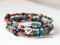 Beaded Bracelet Handmade Bracelet Boho by AlliecatDesignStudio