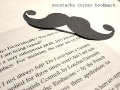 """DYI do """"bigodon"""" marcador de livros..."""