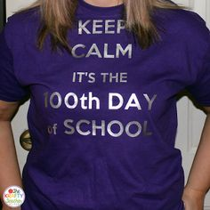 Celebrating the 100th day of School! and shirt tutorial