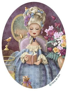 Ilustraciones Nina as Marie Antoinette Illustration Mignonne, Cute Illustration, Marie Antoinette, Art Fantaisiste, Art Mignon, Creation Photo, Holly Hobbie, Whimsical Art, Illustrations