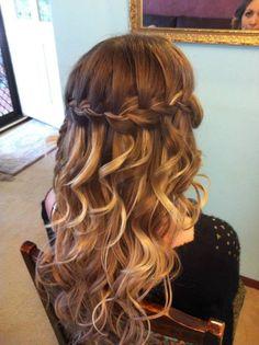 pretty curls ,braid ,and hair color!:)
