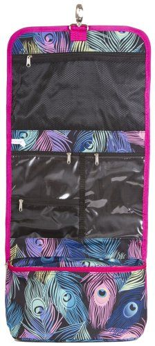 J Garden Pink Peacock Feather Hanging Toiletry Bag ** Check this awesome product by going to the link at the image.