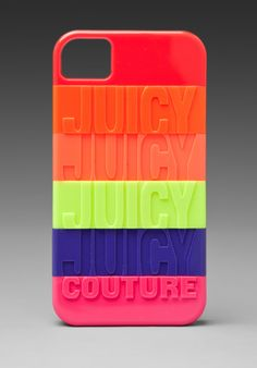 Juicy Couture Stackable iPhone Case in Neon Multi