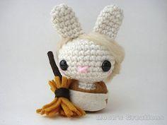 Cinderella Moon Bun Amigurumi Bunny Rabbit Doll by MoonsCreations