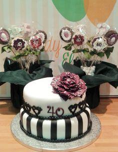 TARTA FONDANT ROMANTICA 40 CUMPLEAÑOS FONDANT CAKE ROMANTIC