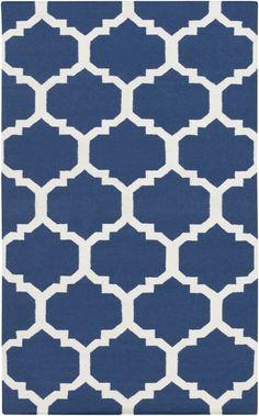 Artistic Weavers - Artistic Weavers York Harlow Blue-White Area Rug #112323