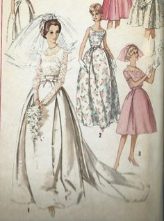 "Vintage 1960's Sewing Pattern Simplicity 5343 Wedding, Bridesmaid Dress Bust 31"" #Simplicity"