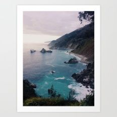 Art Print featuring Big Sur Sunset by Alicia Magnuson