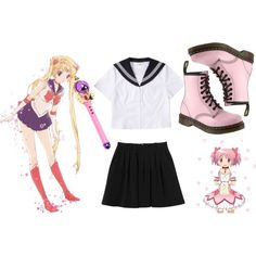 Modern Day Magical Girl! by divisionbleach on Polyvore