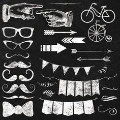 Chalkboard Elements and Clipart  Instant by JubileeDigitalDesign, $5.00