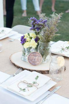 Fiesta rustic-lavender - Decoración de fiestas en All Lovely Party