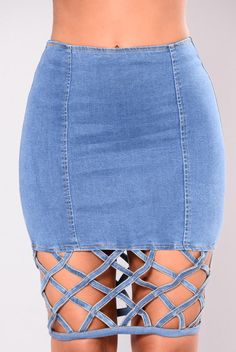 Elektra Denim Skirt - Blue Denim