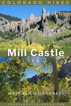 Mill Castle Trail is so unique and different with its canyon walls, pinnacles, and massive aspens forests that photos simply can't capture it. A hidden gem with few hikers and a dreamy area for those wanting solitude in the wild. #Gunnison #crestedbutte #hikingtrails #Coloradohikes #bestdayhike Crested Butte, Day Hike, Travel Tips, Travel Destinations, Colorado, Castle, Blooming Plants, Hiking Trails, Snowboard