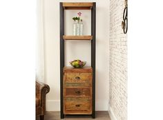 Manhattan Alcove Bookcase (with drawers) - http://www.solidoakfurniture.co.uk/ranges/manhattan-reclaimed-wood/manhattan-alcove-bookcase-with-drawers.html