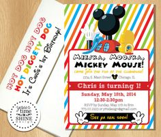 Mickey Mouse Clubhouse Birthday Invitations by YourTimeToShine