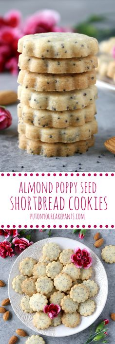 These almond poppy seed shortbread cookies are simply delightful, not to mention simple to make!