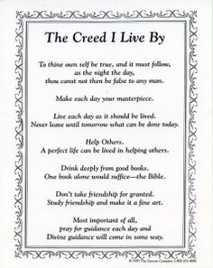 John Wooden's The Creed I Live By
