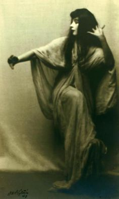 ruth st. denis in legend of the sun goddess from omika (1913). photograph by arnold genthe.