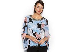 Alfani Angel-Sleeve Floral-Print Blouson Top - Tops - Women - Macy's