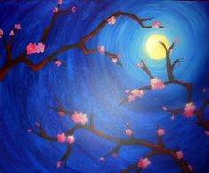 I am going to paint Moonlight Blossoms at Pinot's Palette in Ridgewood to support SIBS NJ! JOIN US!