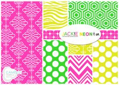 NEW from Camelot Fabrics!! Neon & On by Jackie McFee. To see more from this collection, visit our website: http://camelotfabrics.com/neon-on.html