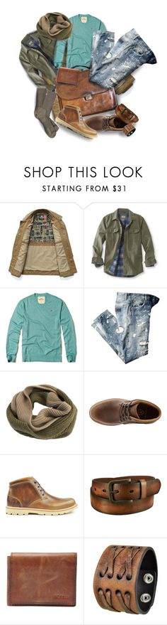 """""""Casual Jeans...Menswear"""" by maggie-johnston ❤ liked on Polyvore featuring L.L.Bean, Hollister Co., Edit. Tokyo, Boston Boot Company, Uniqlo, FOSSIL, Nemesis, Patagonia, Trilogy and men's fashion"""