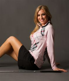 SanSoleil UPF 50 SolTek Zip Mock Turnberry Pink | Golf4Her