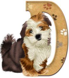 Alfabeto con lindo perrito.   Oh my Alfabetos!