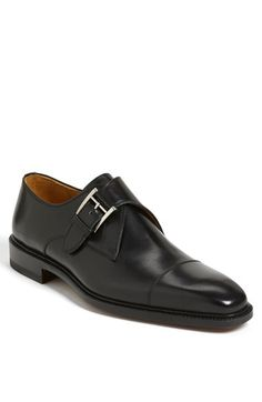 Magnanni 'Nino' Monk Strap Slip-On Black available at #Nordstrom