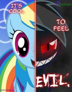Dark Rainbow Dash - Equirin Infestation by PonyChaos13 on deviantART