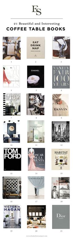How to Style Your Home: 21 Beautiful Coffee Table Books - Elizabeth Street Post Best Coffee Table Books, Home Coffee Tables, Coffee Table Styling, Decorating Coffee Tables, Apartment View, Diy Apartment Decor, Apartment Living, Apartment Ideas, Living Room