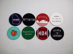 Atlanta Magnets - City of Atlanta Georgia Magnets - City Pride -  8 Designs #atlanta