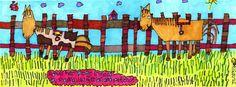 Giclee Horse Print 5x12 Marker Art Horse Art Horse by JennyLU
