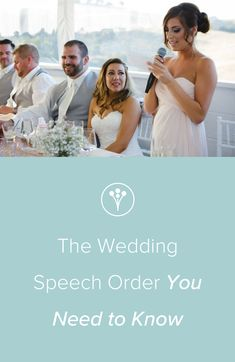 801af493a13 The Wedding Speech Order You Need to Know - Planning your wedding reception  order  Read
